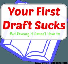 Your First Draft Sucks, but revising it doesn't have to. Simple steps to making revising your novel easy. Writing Strategies, Editing Writing, Fiction Writing, Writing Advice, Writing Help, Writing Skills, Writing A Book, Writing Prompts, Writing Assignments