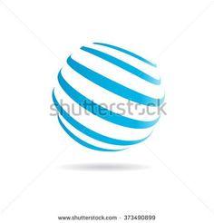 Hi Tech sphere logo. Vector graphic design