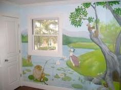 beatrix potter nursery  mural