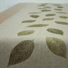 leaf table runner (add #personalized #wedding #candy #printables www.customweddingprintables.com)