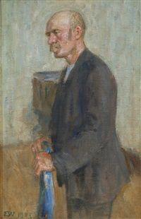 Portrett av Fridtjof Nansen, 1907, Erik Theodor Werenskiold