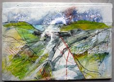 """From the Shropshire sketchbook series by Marie Allen. 5x7"""" mixed media on board."""
