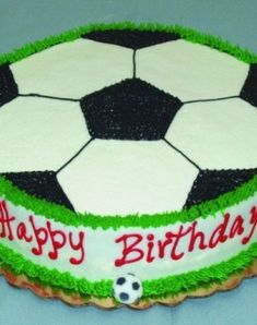 Soccer Themed Birthday Cake Ideas Birthdaycakes Http Ift Tt 2cxfzpl
