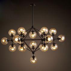 Creative verre pendentif lampe led MODO lustre Salle À Manger ADN de Baisse lumière 5/10/15/21 têtes lampe industrielle vintage Jason miller