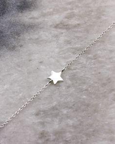 Dainty Star Bracelet in sterling silver.