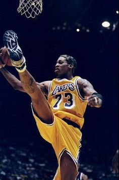 """Dennis Rodman with Lakers, still thinks that the reason to skip practice is """"Can't find my socks"""" is just amazing."""