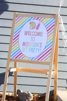 Rainbow Art Birthday Party Ideas | Photo 1 of 21 | Catch My Party
