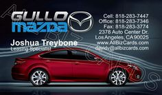 2013 Mazda 6 Business Card ID# 20892