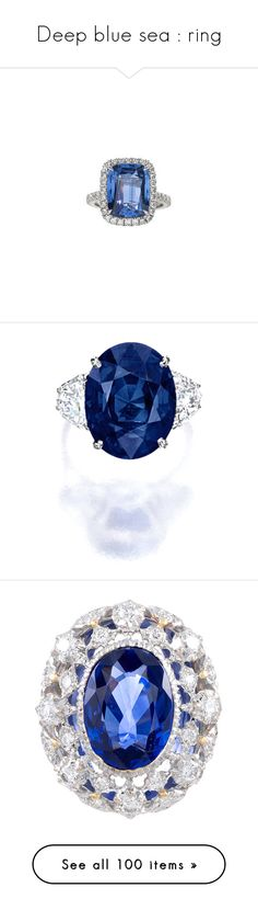 """""""Deep blue sea : ring"""" by saltless ❤ liked on Polyvore featuring jewelry, diamond fine jewelry, diamond jewellery, diamond jewelry, fine jewelry, fine jewellery, rings, sapphire diamond ring, wine ring and sapphire jewelry"""