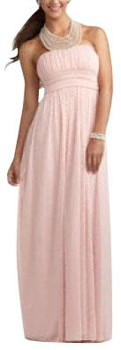 """Gently used David's Bridal Bridesmaid Dress Feminine on Tradesy $49 """"necklace"""" is attached"""