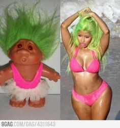 What's DIfference ? Nick Minaj Being A Troll