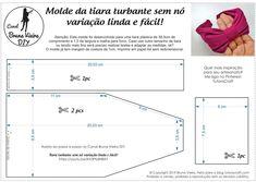 Knotless turban tiara template, beautiful and easy variation! Sewing Headbands, Pink Headbands, Fabric Headbands, Turban Headbands, Diy Headband, Tiara Diy, Fabric Headband Tutorial, Sewing Tutorials, Sewing Patterns