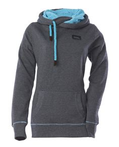 Side Tie Pullover Hoodie - Heathered Black Available in sizes XS-4XL