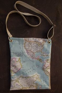 Mi blog de costura: Bolso Mapamundi