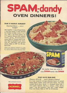I will eat anything called SPAM-dandy! You know...Spam IS Handy and Dandy!