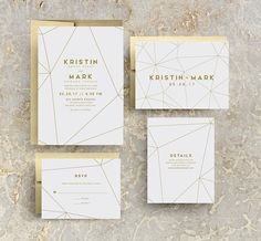 Gold Geometric Wedding Invitation, Gold Wedding, Gold Invites, Modern, Geometric Invitations, Geometric Invites, Gold Geometric, SAMPLE