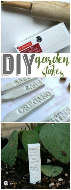 Planting an Herb Garden   Create a unique herb garden using an old fountain and eco scraps potting soil. Make your own DIY garden stakes from polymer clay for an easy craft. Tutorial onsponsored by EcoScraps: