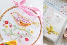 Bird on Branch Embroidery Kit