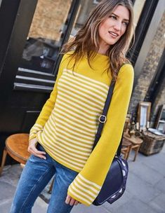 Get cozy with our range of sweaters for women at Boden. Our lightweight layers, winter-ready knits, and cashmere sweaters will be your cold-weather saviors. Cashmere Jumper, Navy Women, Pulls, Pullover, Latest Fashion Trends, Knitwear, Sweaters For Women, Women Wear, My Style
