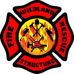 Work both sides of Fire? Decal features Wildland, Structure, Fire and Rescue in full color permanent adhesive vinyl treated to last up to 5 years outdoors. Firefighter Paramedic, Firefighter Love, Wildland Firefighter, Volunteer Firefighter, Firefighters, Fire Dept, Fire Department, Fire Truck Room, Fire Badge