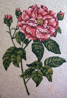 Rose mosaic by Lynn Moor