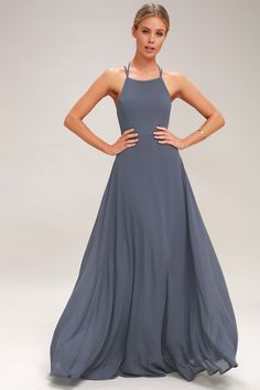 0109358b7c4 Strappy to be Here Denim Blue Maxi Dress 2 Denim Bridesmaid Dresses