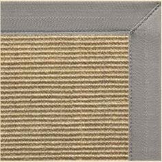 12x15, $1316. Sustainable Lifestyles Bone Colored Sisal Area Rug with Coin Canvas Border - Posh Rug