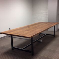 Industrial Cedar Conference Table  by RevivalSupplyCo on Etsy