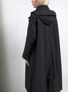 WATERDICHT Amsterdam Straincoat cape, stylish raincoat  Hood: detachable and adjustable to a Fisherman's hat