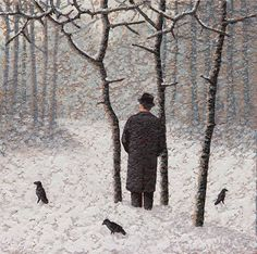 Catto Gallery | Mark Edwards Solo Exhibition 2016 | Three Trees, Three Crows