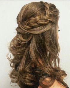 Wedding hairstyles half up half down, with veil, with flowers bridal hair, long . Wedding hairstyles half up half down, . Wedding Hairstyles For Medium Hair, Wedding Hairstyles Half Up Half Down, Wedding Hair Down, Wedding Hair And Makeup, Trendy Hairstyles, Braided Hairstyles, Creative Hairstyles, Bridesmaids Hairstyles, Wedding Braids