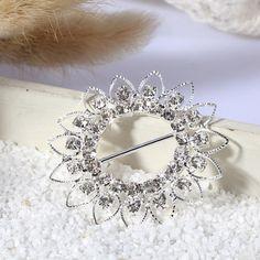 Quality 46mm Round Ribbon Slider Crystal Rhinestones Buckle Wedding Cards