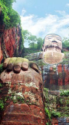 Giant Buddha, Leshan, China #travel #china #buddha