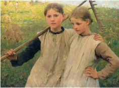 """George Clausen, """" Little Haymakers"""" (1887)"""
