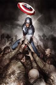 Captain America: Hail Hydra Cover: Captain America with His Shield by Mitchell Breitweiser Marvel Comics Poster - 61 x 91 cm Comic Book Characters, Comic Book Heroes, Marvel Characters, Comic Character, Comic Books Art, Comic Art, Comic Pics, Book Art, Marvel Comics