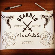 BEARDED VILLAINS FLASH... #bearded #beardedvillains
