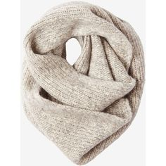 b7a916db057 Toast Alpaca Cotton Knit Snood ($105) ❤ liked on Polyvore featuring  accessories, scarves