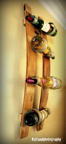 double stave wine bottle holder