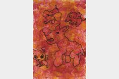 "Artmoney - unique piece of art doubling as a gift card ""Hund på glatbane"""
