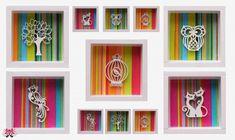 Cuadritos decorativos en madera tipo box (varios modelos) | Feria Central
