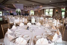 The Lake Club of Ohio decorated for a wedding reception. Photo by Menning Photographic