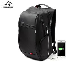 Special offer kingsons External USB Charge Computer Bag Anti-theft Notebook Backpack 13 15 17 inch Waterproof Laptop Backpack Men School Bag just only $34.22 - 39.44 with free shipping worldwide  #backpacksformen Plese click on picture to see our special price for you