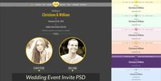 ThemeForest  Wedding Event  Invite PSD Template