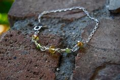 Five Smooth Stones Bracelet green by TheseJoyfulAches on Etsy