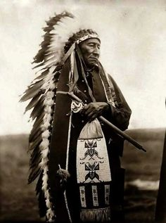CHEYENNE CHIEF  MAD AT THE GOD'S