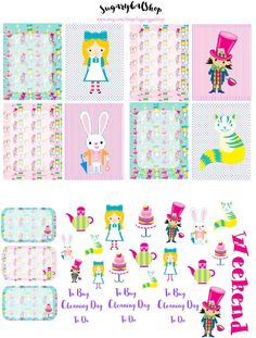 Alice in Wonderland Planner Stickers by SugaryGaLShop on Etsy