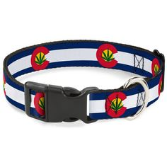 Buckle-Down 9-15' Colorado Flag/Marijuana Leaf Plastic Clip Collar, Small ** Click on the image for additional details. (This is an affiliate link and I receive a commission for the sales)