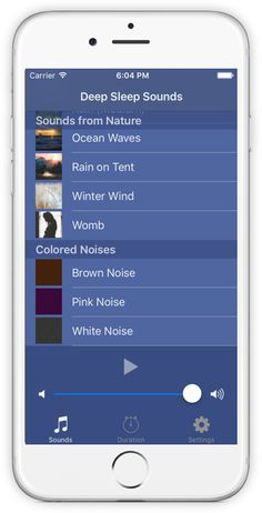 Brown Noise, Pink Noise and White Noise from the Deep Sleep Sounds App