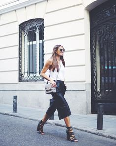 New obsession: leather culottes.
