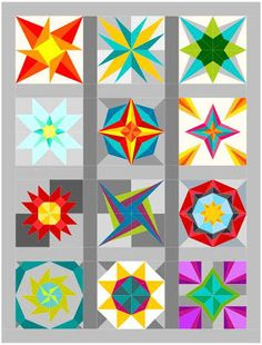 Lucky Stars paper piecing quilt by Elizabeth Dackson